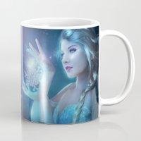 elsa Mugs featuring Elsa by Alexandra V Bach