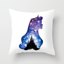 Sleeping Beauty Double Exposure Throw Pillow
