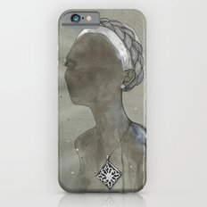 girl with silver diamond oltu stone necklace Slim Case iPhone 6s