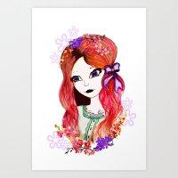 Purple Bow Art Print
