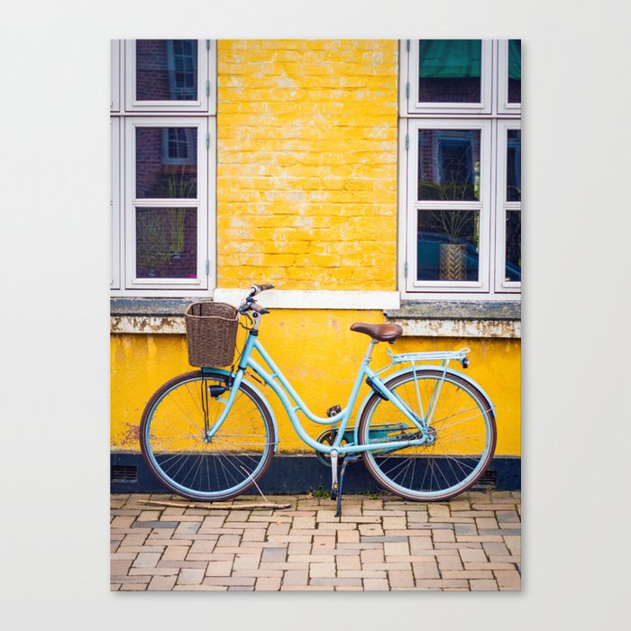 Bike and yellow Canvas Print