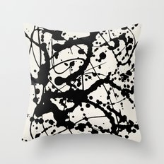 Cheers to Pollock Throw Pillow
