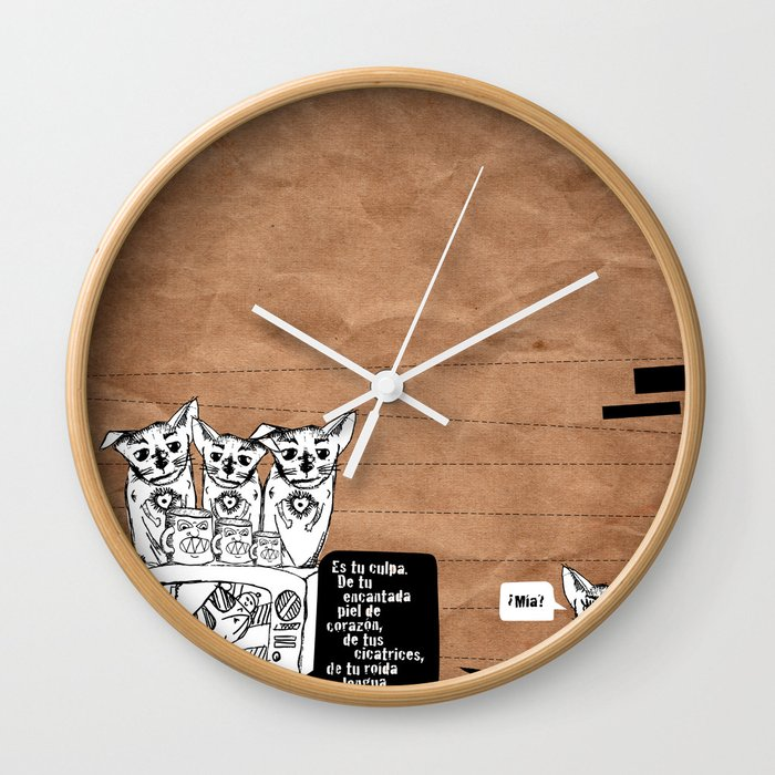 culpa Wall Clock