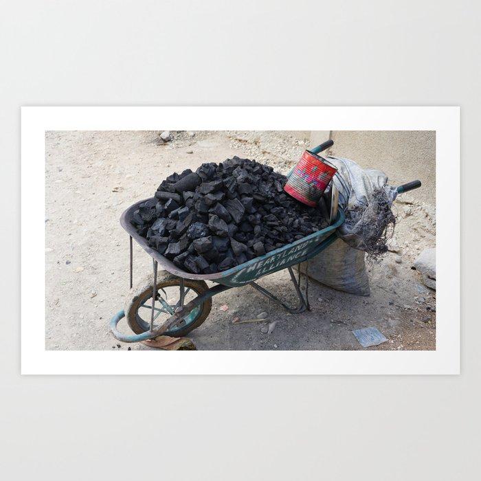 Haiti Coal Art Print