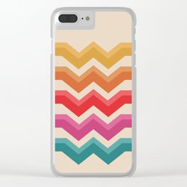 Retro - Valleys #818 Clear iPhone Case