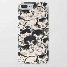 Happy Cats Faces iPhone 7 Plus Slim Case