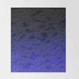 Blue & Black Glitter Gradient Throw Blanket