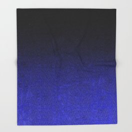 Blue & Black Glitter Gradient Throw Blanket