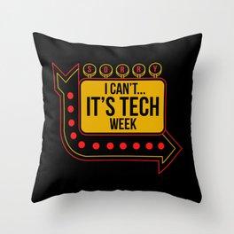 The Tech Week Throw Pillow