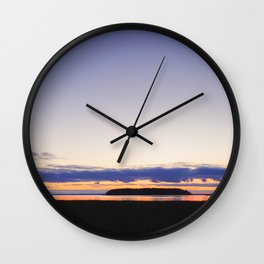 After Sunset Wall Clock