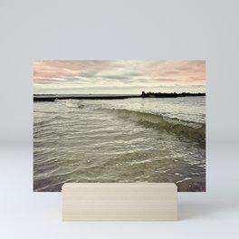 Sunset Crashing Mini Art Print