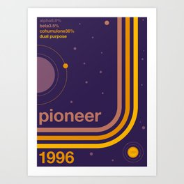 pioneer single hop Art Print