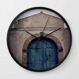 the turquoise door Wall Clock