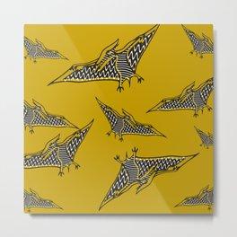 Pterosauria mustard Metal Print