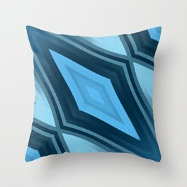 stripes wave pattern 6v3 coi Throw Pillow