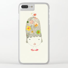Spring is around the corner Clear iPhone Case