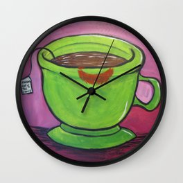 A Warm Cup Of Tea And Honey Wall Clock