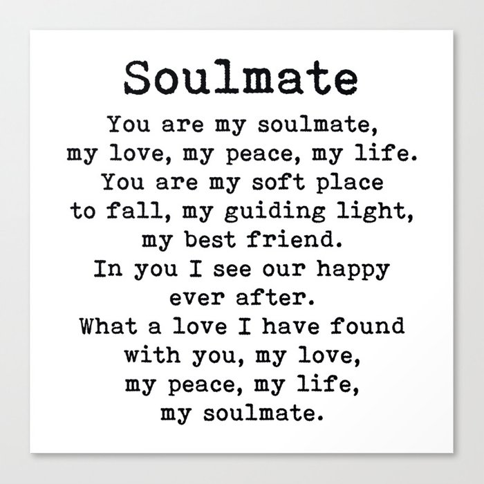 You Are My Soulmate Romantic Quote Leinwanddruck