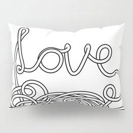 Spaghetti Love in Black and White Pillow Sham