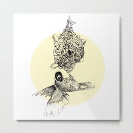 Astrid the Bird Metal Print