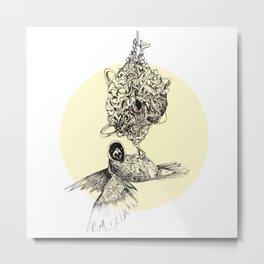 Astrid the Bird Metal Print