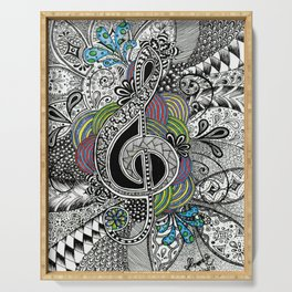 Musical Zentangle Serving Tray