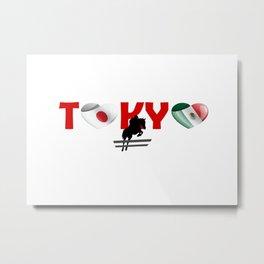 Equistrian team of Mexico in Tokyo, Japan Metal Print