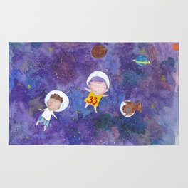 Flying into space Rug