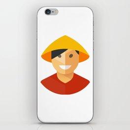 Asian Rice Farmer Icon iPhone Skin