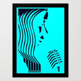 Jazz Trio Vocals (1 of 3) Art Print