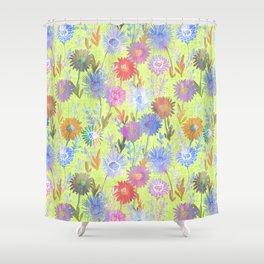 Gillian Floral Lime Shower Curtain