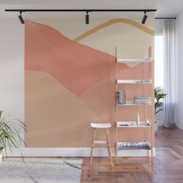 Mountains In Pink Wall Mural