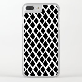 Rhombus Black And White Clear iPhone Case