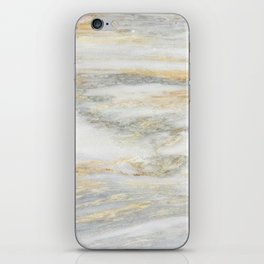 White Gold Marble Texture iPhone Skin