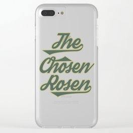 "Great Tee typography design saying ""Chosen"" and showing your the chosen one! Picked The chosen rosen Clear iPhone Case"