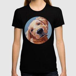 Golden Retriever Puppy Original Oil Painting T-shirt