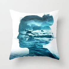 The Sea Inside Me Throw Pillow
