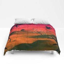 Oriental Sunset Comforters