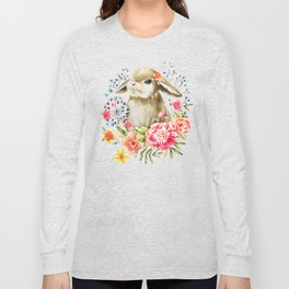 Little bunny watercolor illustration Long Sleeve T-shirt