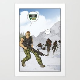Tough Guy in action Art Print