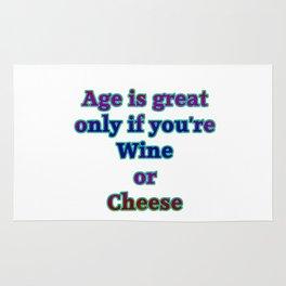 "Funny ""Wine and Cheese"" Joke Rug"