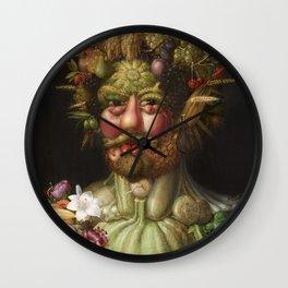 Guiseppe Arcimboldo's Rudolf II - Portrait from Fruit Wall Clock