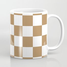 Checkered Pattern: Ginger Coffee Mug