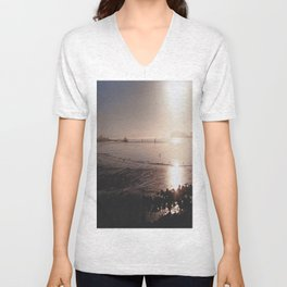 Water on Bay-Film Photograph Unisex V-Neck