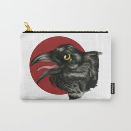 Red Moon Crow Carry-All Pouch