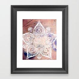 Flower mandala- rose Framed Art Print