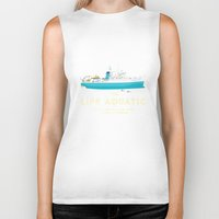 steve zissou Biker Tanks featuring The Life Aquatic with Steve Zissou by steeeeee
