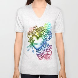 my chained heart Unisex V-Neck
