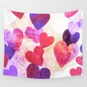 Fab Pink & Purple Grungy Hearts Design by groovyfinds