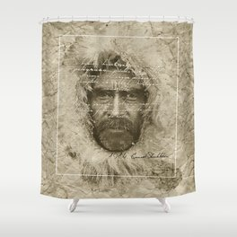 Ernest Shackleton Fake Robert E.Peary (Spanish Version) Shower Curtain